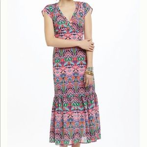 Anthropologie Vanessa Virginia Mural Maxi Dress